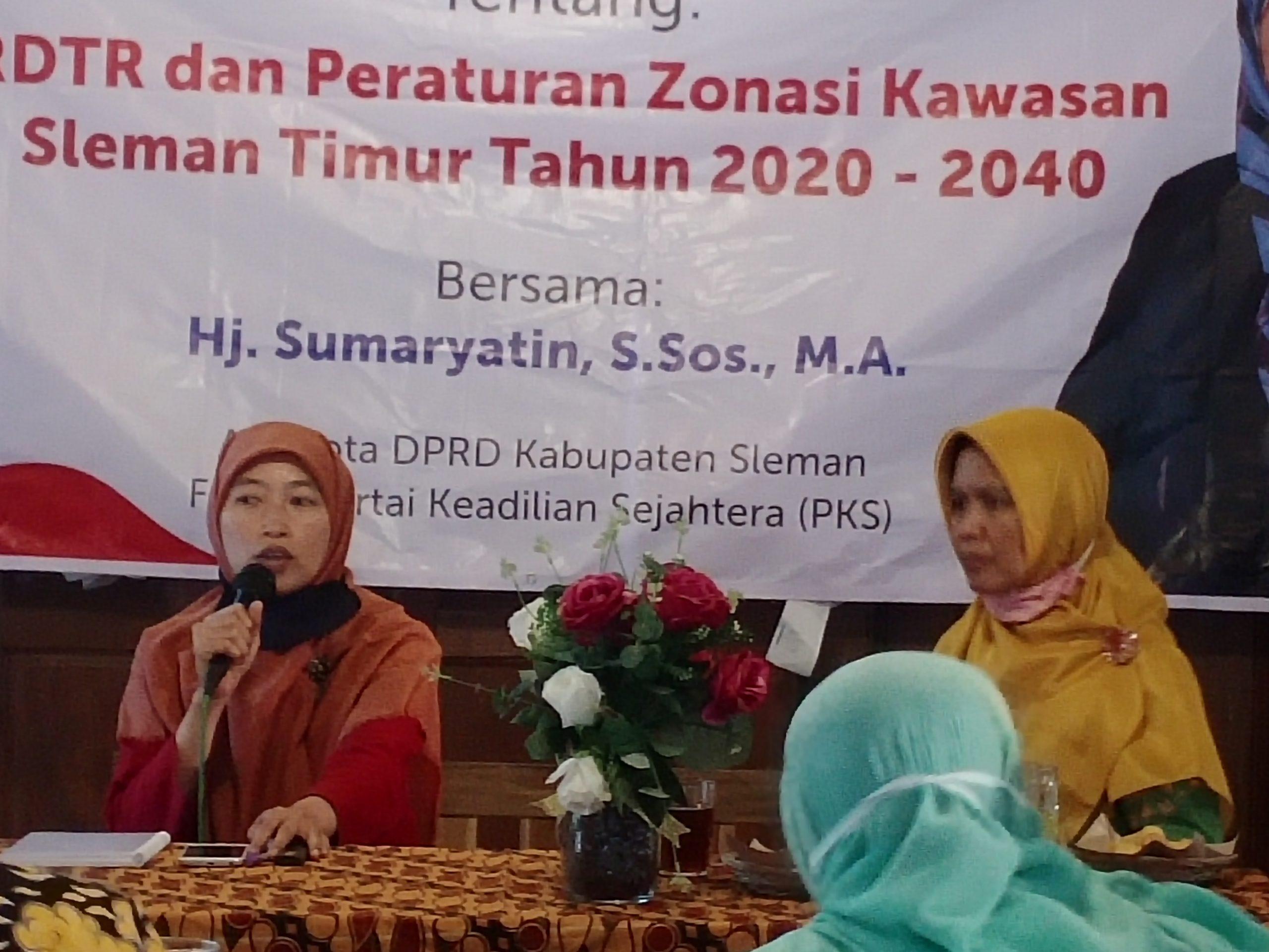 Sambung Rasa Raperda RDTR Kawasan Sleman Timur 2021-2041 ...